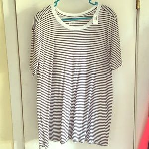 NWT.  Striped oversized tunic.